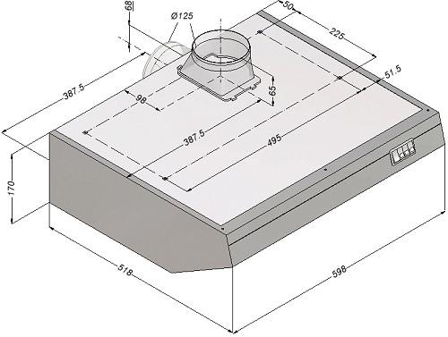 bartscher novy dunstabzugshaube b600 cns art nr 100. Black Bedroom Furniture Sets. Home Design Ideas